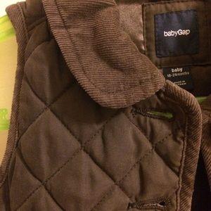 Baby Gap Dark Brown Quilted Vest